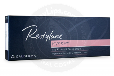 Image shows box of RESTYLANE™ KYSSE™ for sale